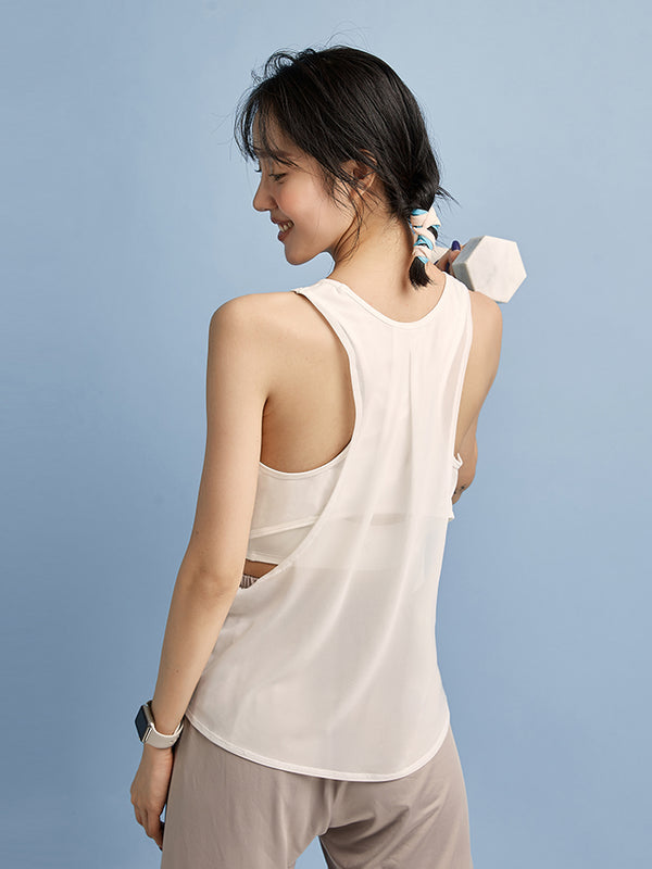 Sloli Back Mesh Tank Top