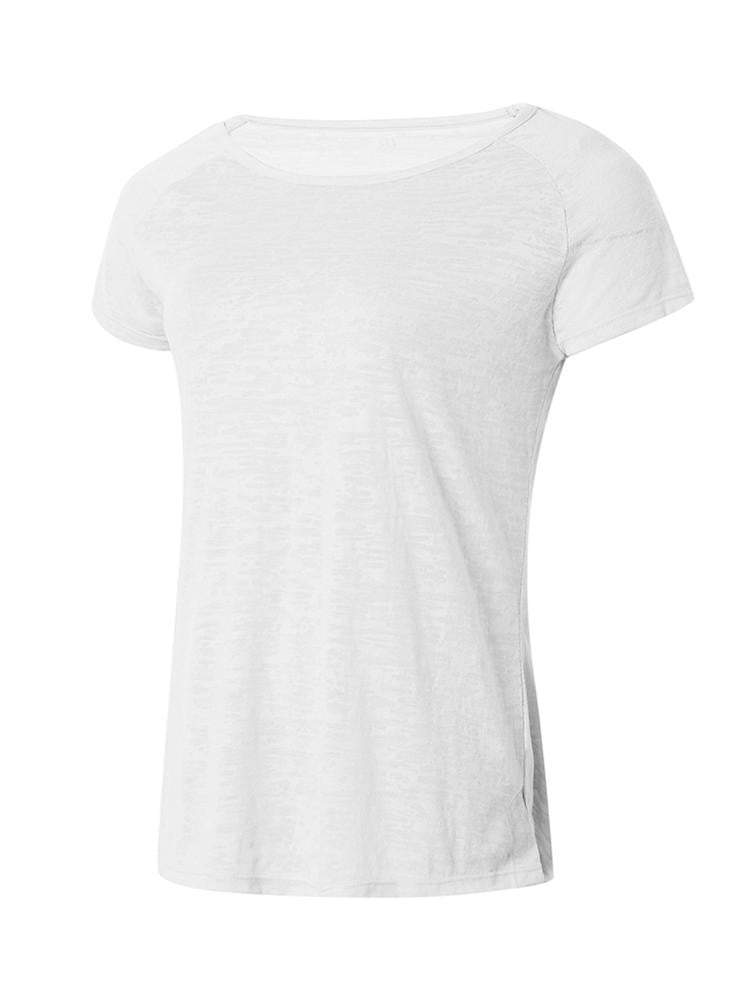 Sloli Breathable Short Sleeve Sports Shirt XS / White