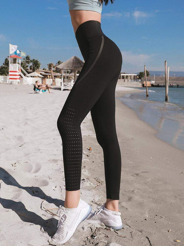 Sloli High Waist Capris Sports Tights with Pocket