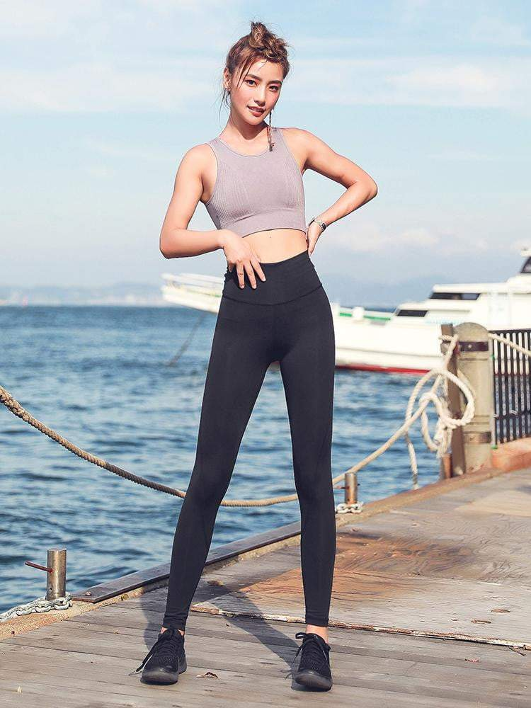 Sloli Stretch Material Hip Up Yoga Leggings