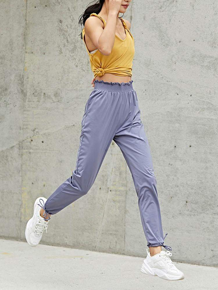 Sloli Casual Pants With Frills