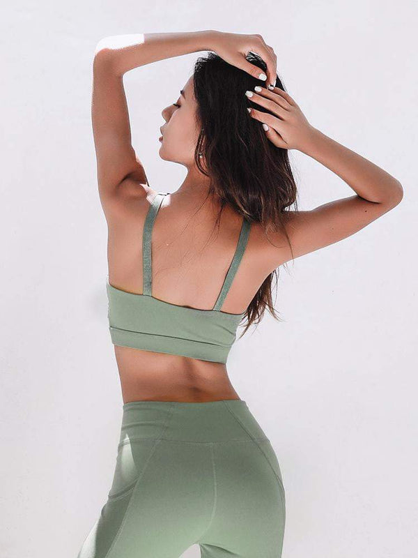 Sloli Sexy Non-Wired Fitness Yoga Bra 2 Colors Available