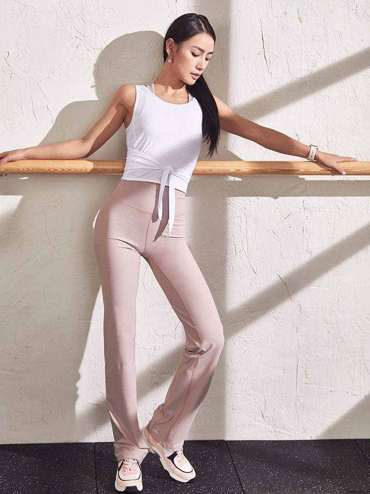 Sloli High Waist Sports Yoga Pants Flare Cut