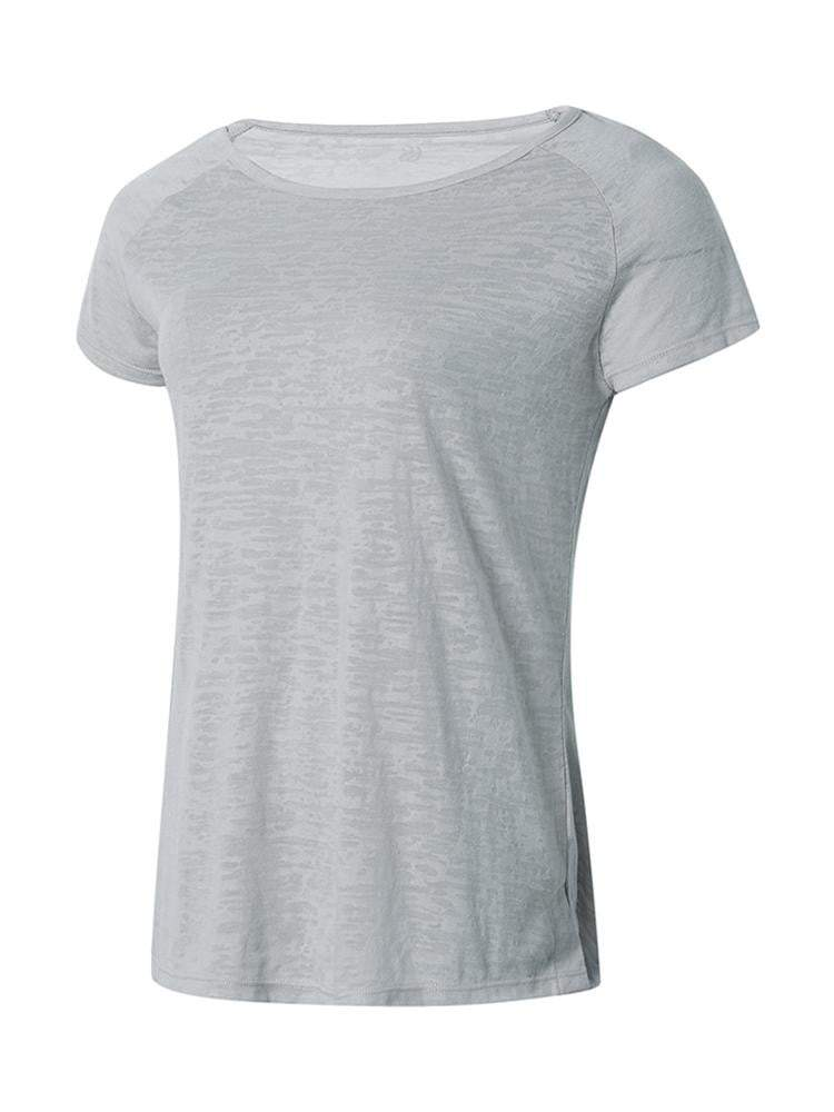 Sloli Breathable Short Sleeve Sports Shirt XS / Gray
