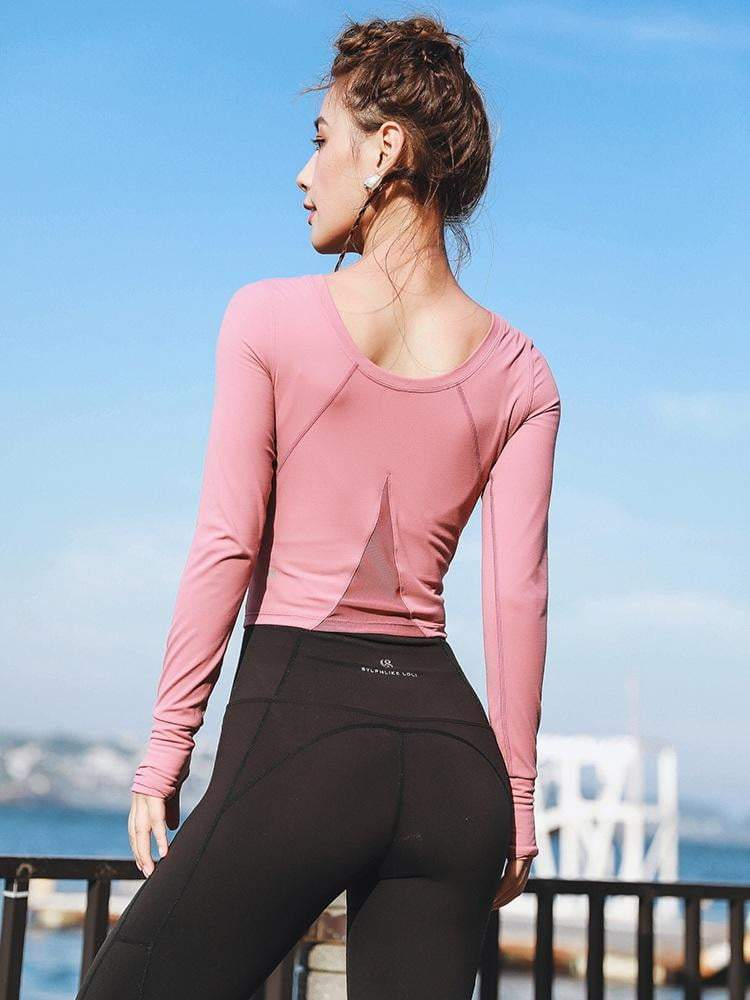 Mesh Sports Long Sleeves