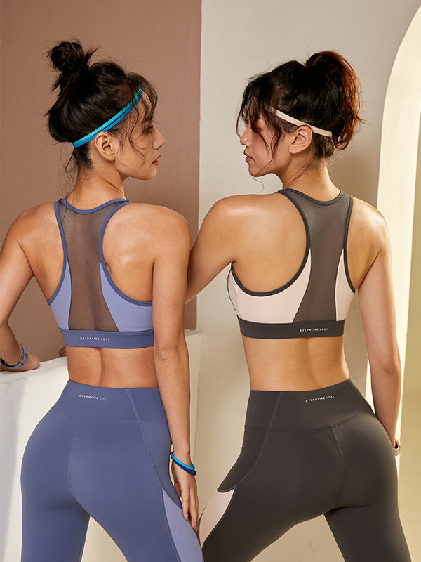 Sloli mesh anti-vibration Colorful sports bra