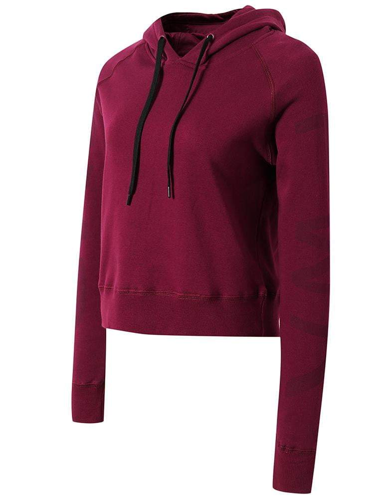 Sloli Pure Color Brushed Lining Sports Hoodie S / Purple