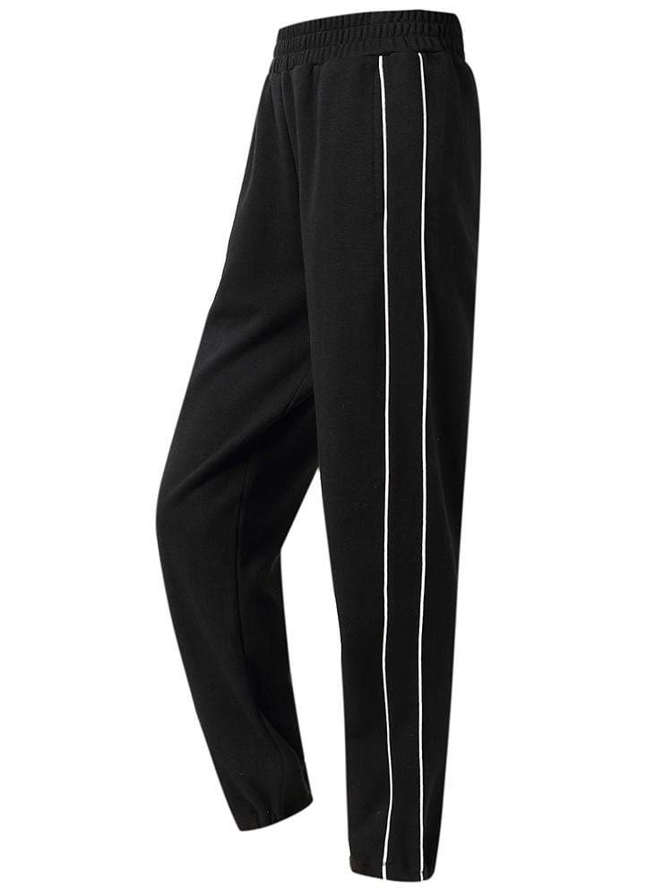 Sloli Front Pocket Casual Sweatpants XS / Black