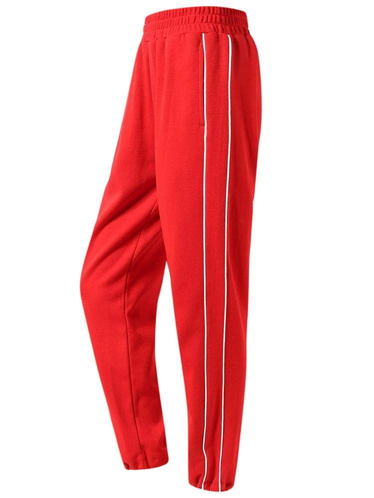 Sloli Front Pocket Casual Sweatpants XS / Red