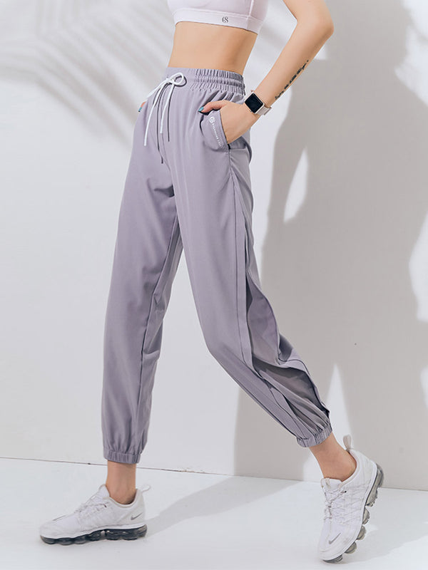 Sloli Mesh Switching Casual Long Pants