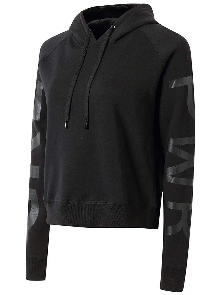 Sloli Pure Color Brushed Lining Sports Hoodie S / Black