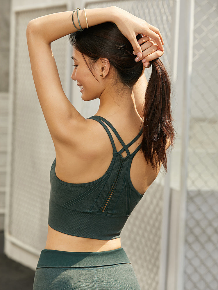 Sloli Back Knitted Style Sports Bra
