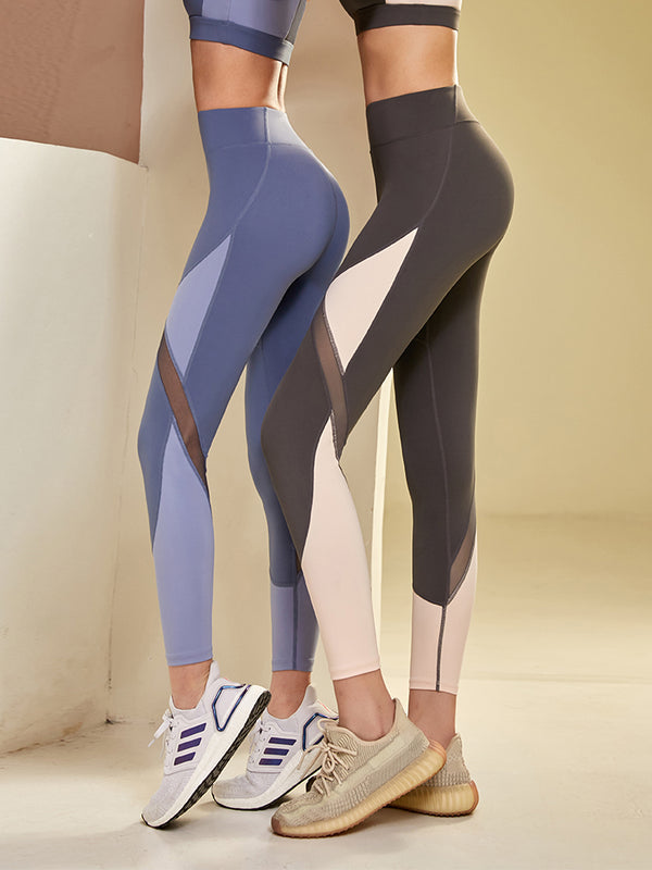 Sloli High Waist  Mesh Sports Leggings