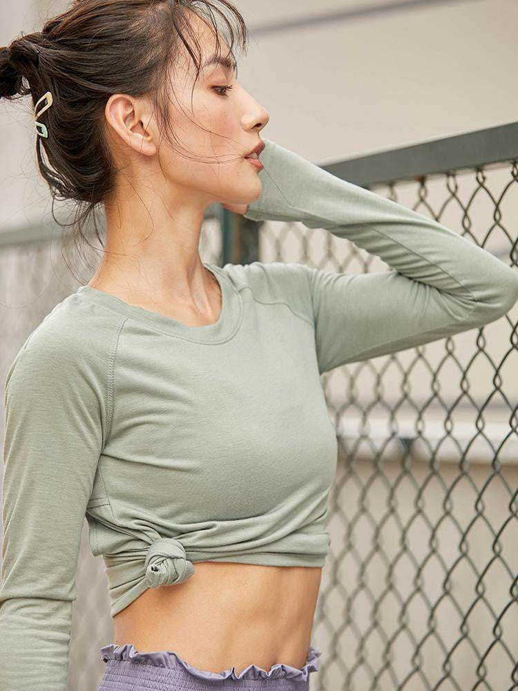 Sloli Backless Long Sleeves Sports Shirt