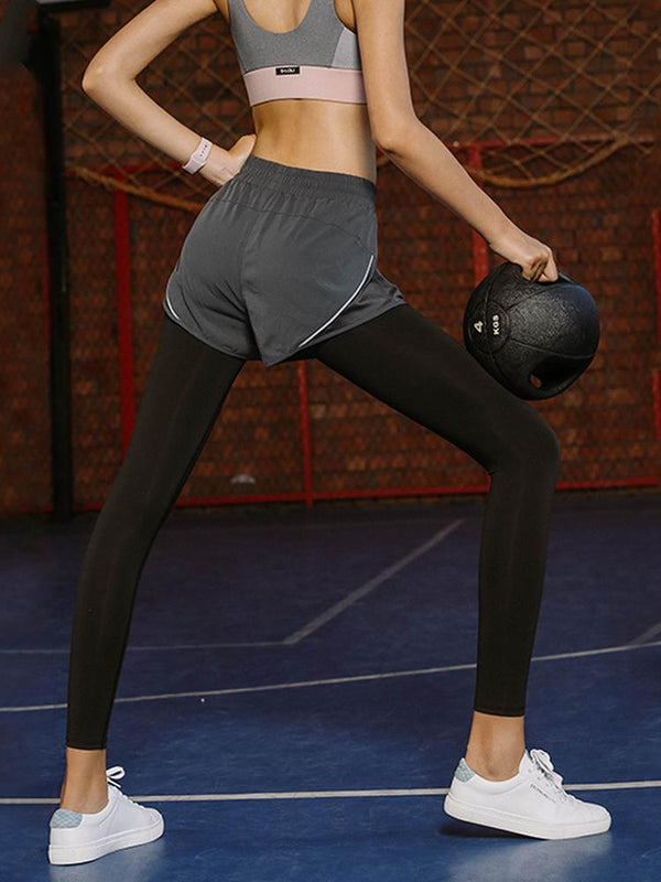 Sloli Sports Leggings with Shorts Integrated