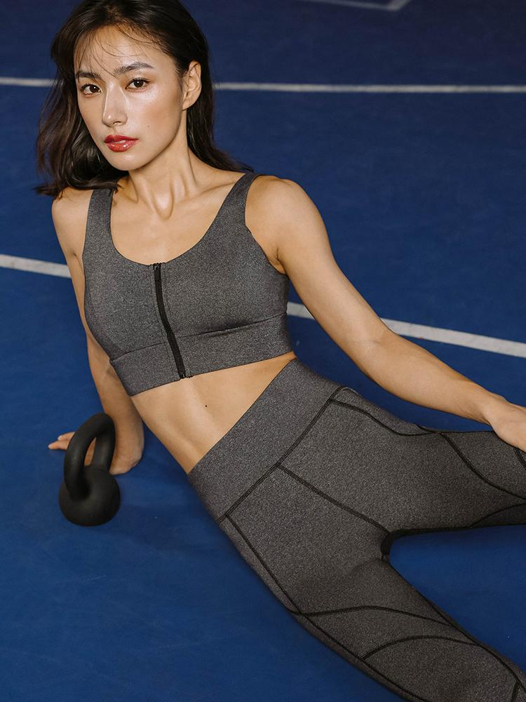 Sloli Front Zipper Style Sports Bra for High Intensity Training
