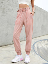Sloli Thin Casual Pants with Belt