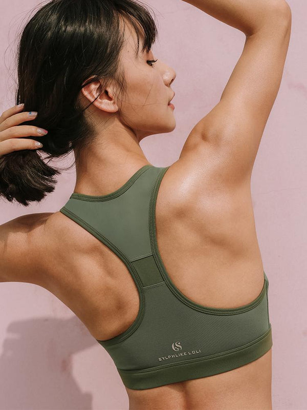 Sloli U Neck Design Color Scheme Sports Bra
