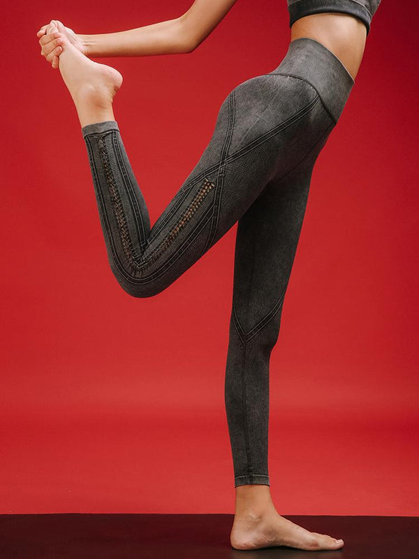 Sloli High Waist Weaved Leggings