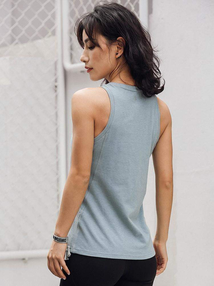 Sloli Round Neck Sports Tank Top Vest