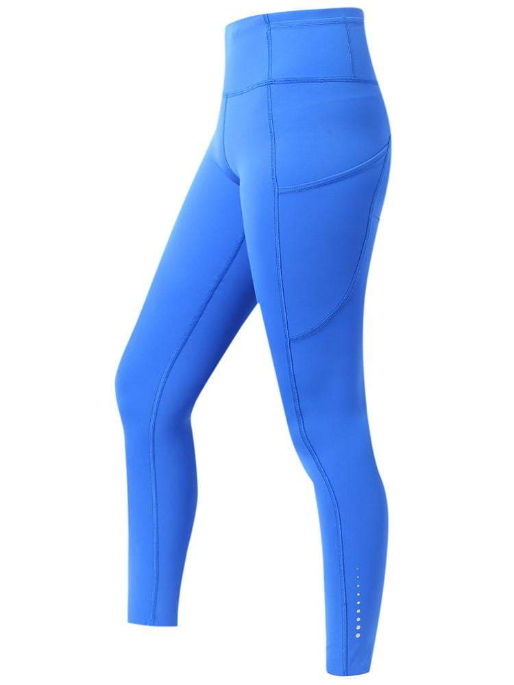 Sloli High Waist Yoga Pants with Pockets Tummy Control XS / Blue