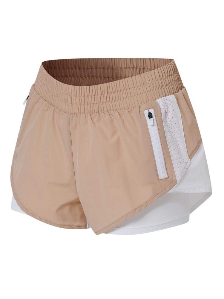 Sloli Color Scheme Sports Shorts with Inner Tights Integrated XS / Pink