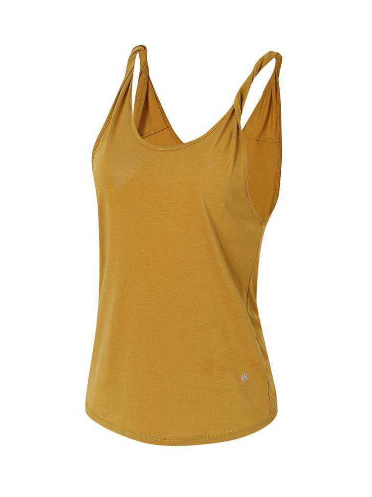 Sloli Simple Design Sports Tank Top Vest XS / Yellow