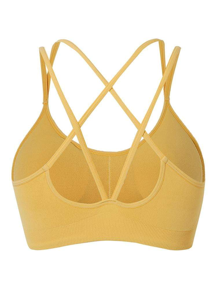 Sloli Backless Sports Bra for Low Intensity Training S / Yellow