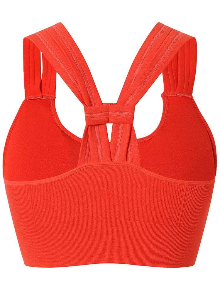 Sloli Y-Shaped Backless Sports Bra S / Orange