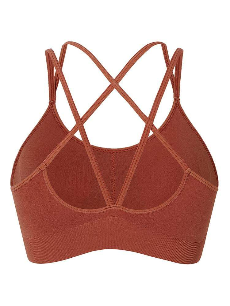 Sloli Backless Sports Bra for Low Intensity Training S / Red