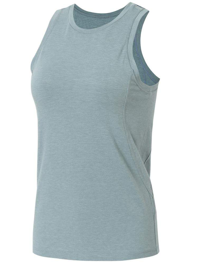 Sloli Round Neck Sports Tank Top Vest XS / Light Blue