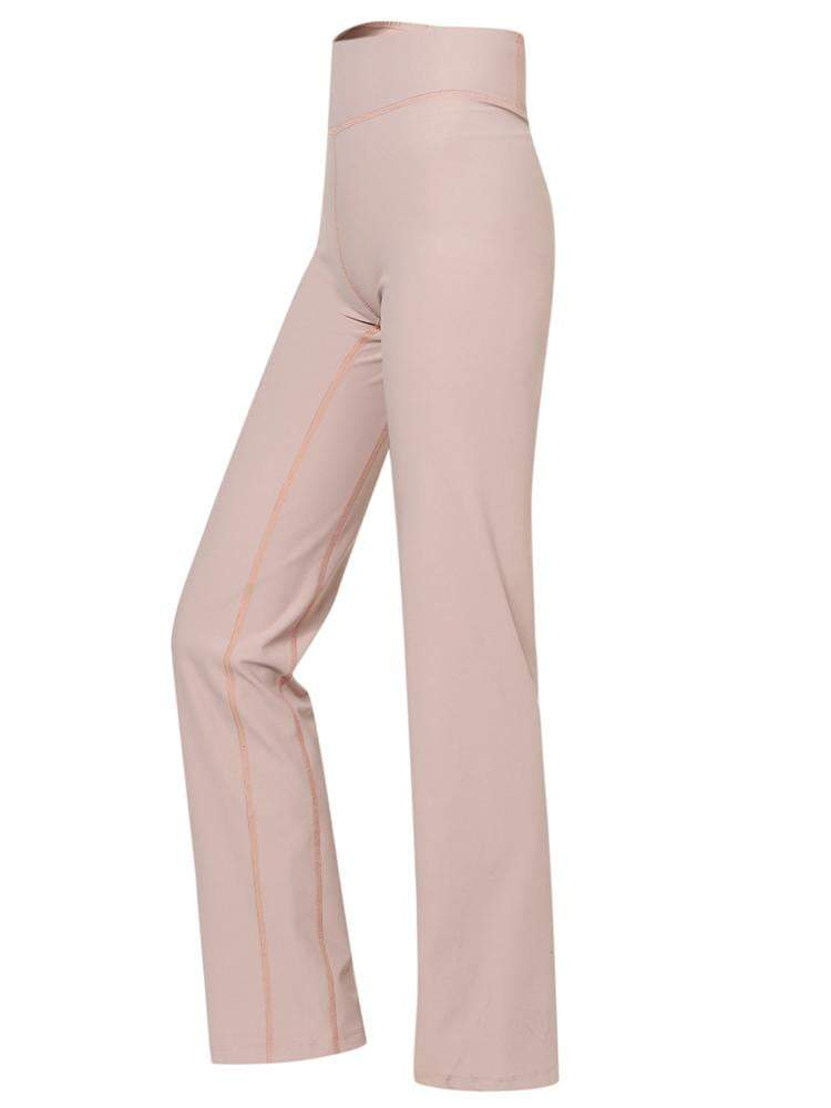 Sloli High Waist Sports Yoga Pants Flare Cut XS / Pink