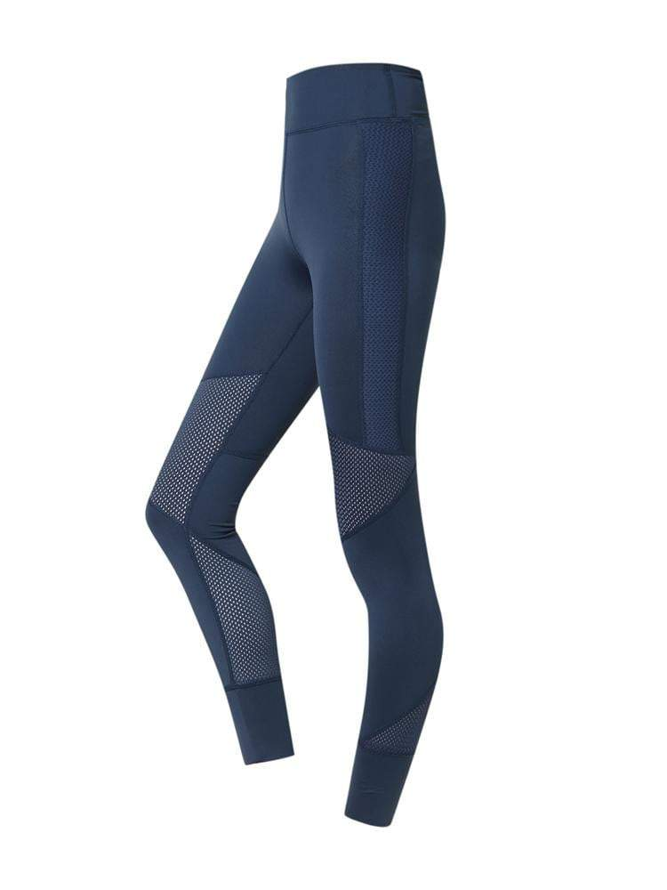 Sloli High Waist Breathable Material Sports Mesh Tight XS / Navy