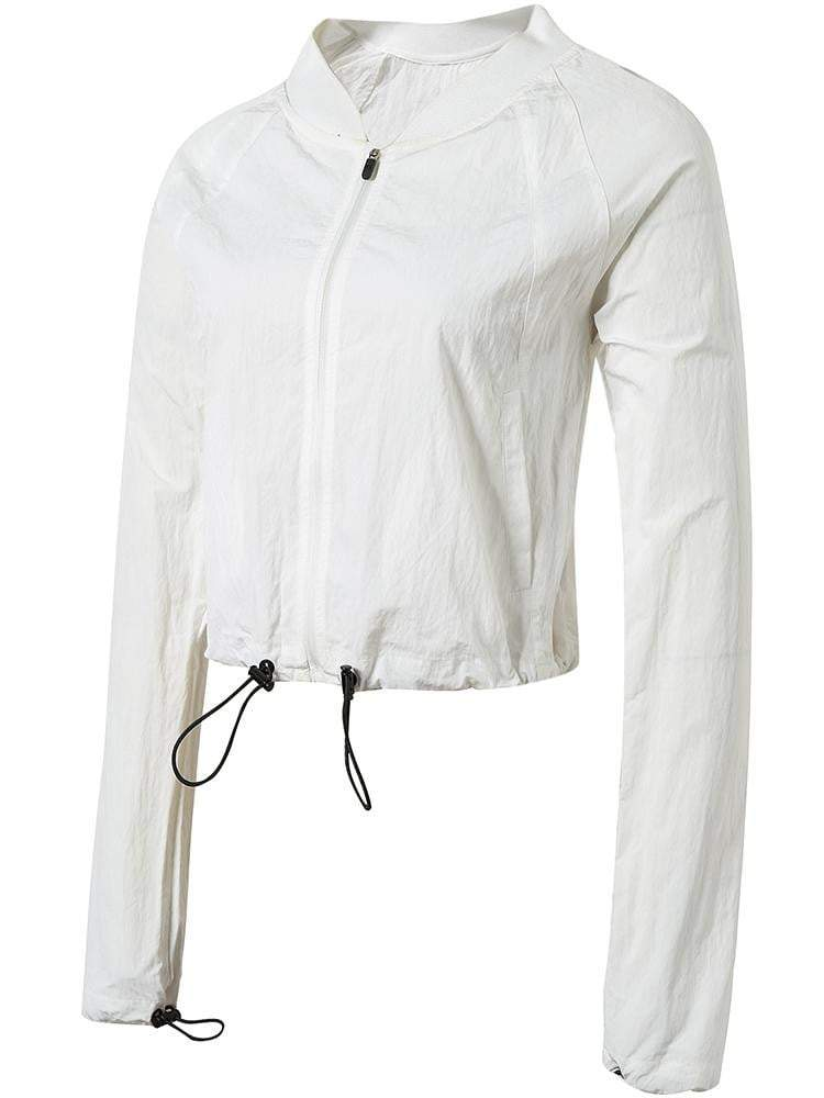 Sloli Autumn&Winter Windproof  Short Length Running Jacket XS / White