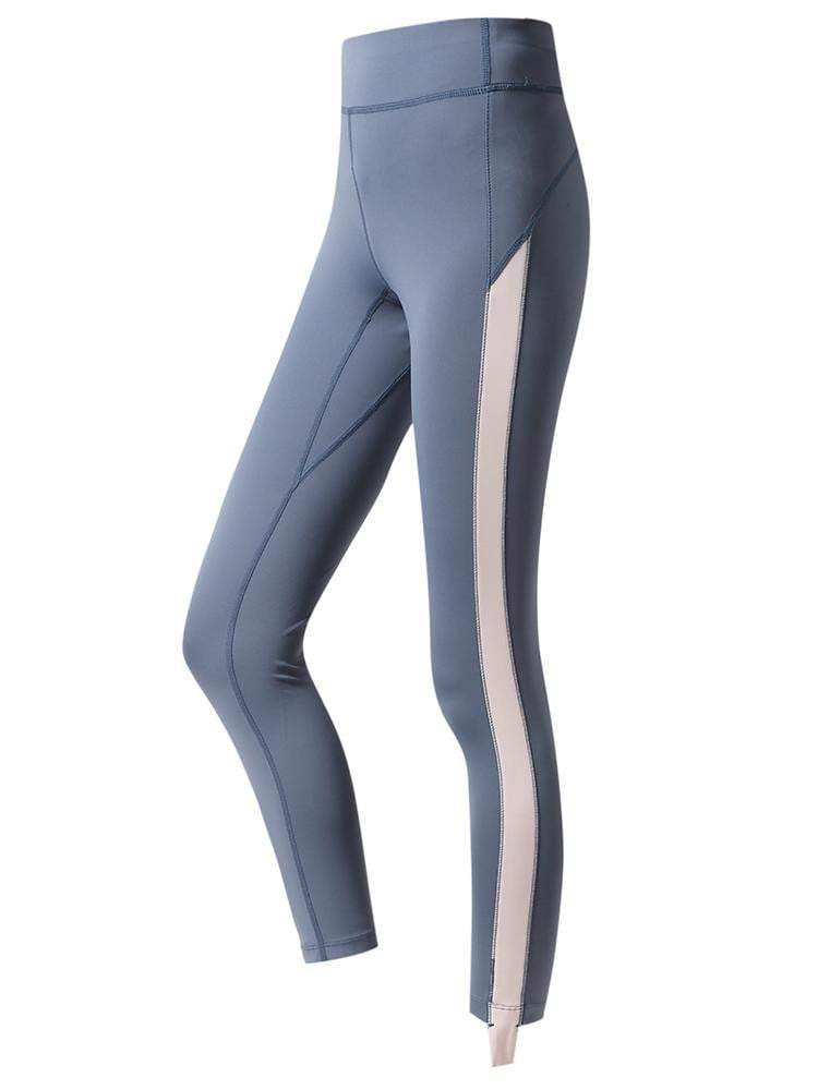 Sloli High Waist Color Schemes Capris Leggings XS / Blue
