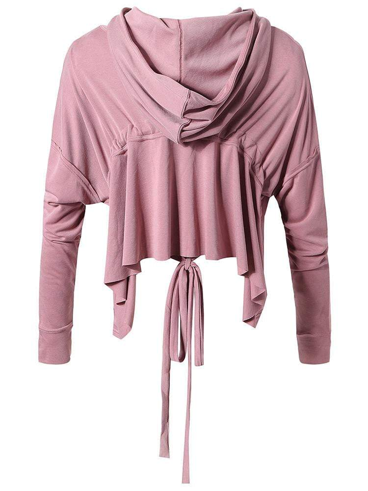 Sloli Sports Parker Casual Long Sleeve Gather Hoodie XS / Pink