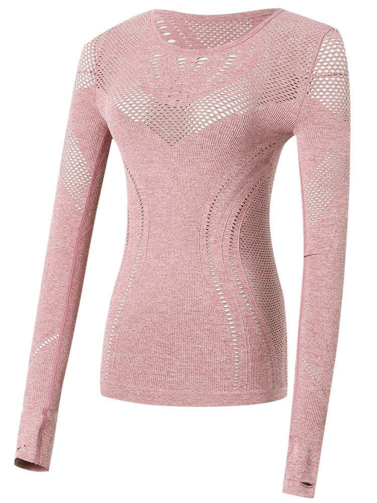 Sloli Highly Breathable Long Sleeve Running Shirt S / Pink