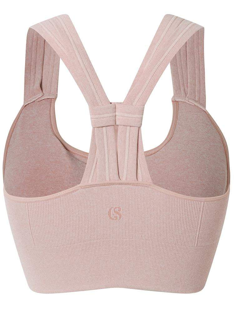 Sloli Y-Shaped Backless Sports Bra S / Pink
