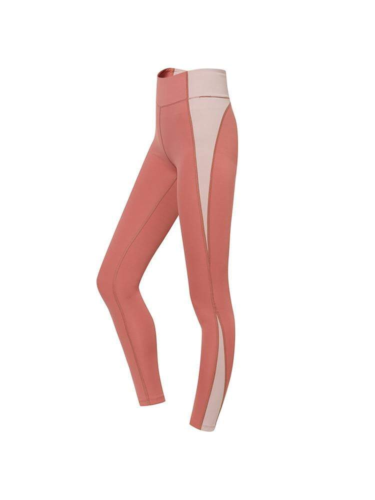 Sloli Strechable Color Scheme Sports Leggings XS / Pink