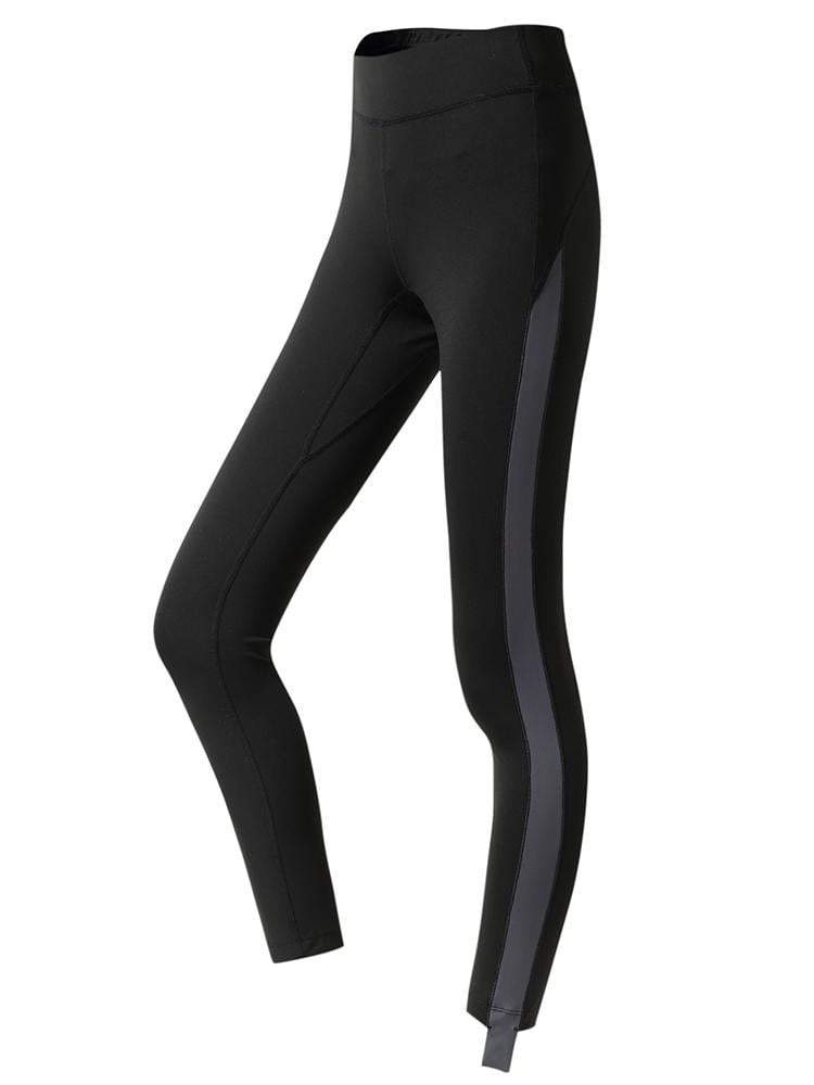 Sloli High Waist Color Schemes Capris Leggings XS / Black
