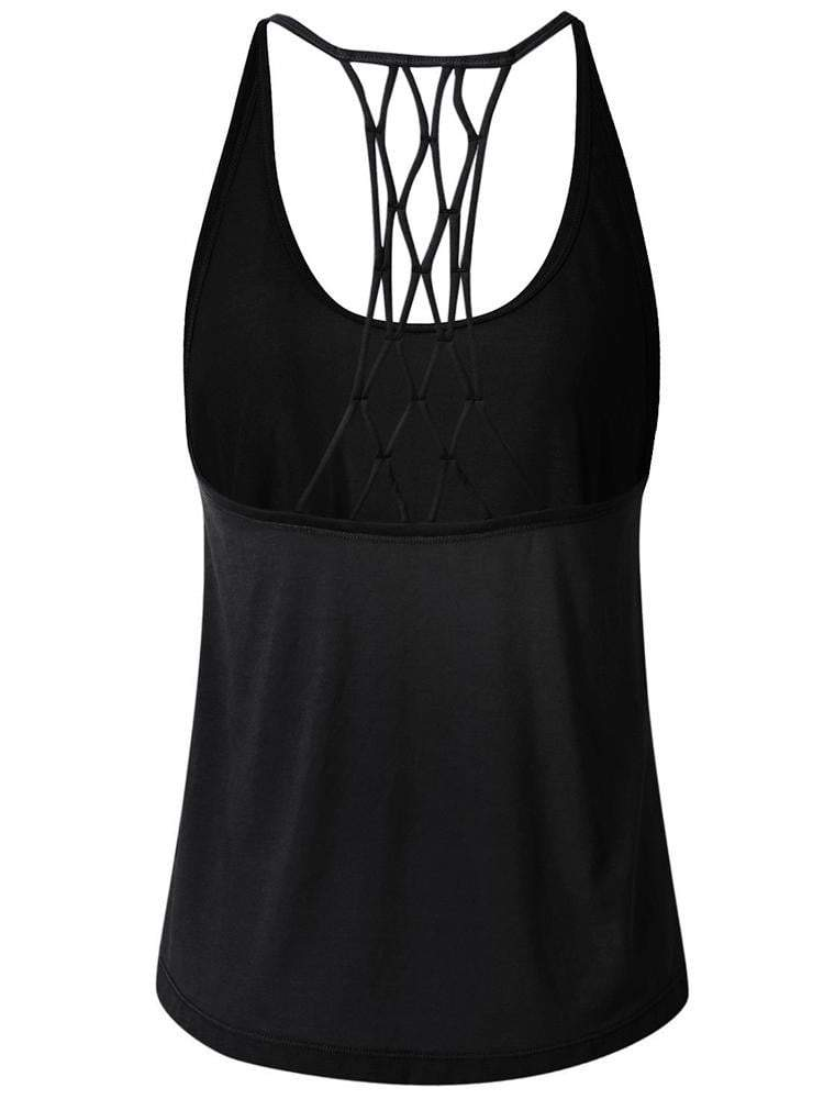 Sloli Crossback Sports Tank top XS / Black