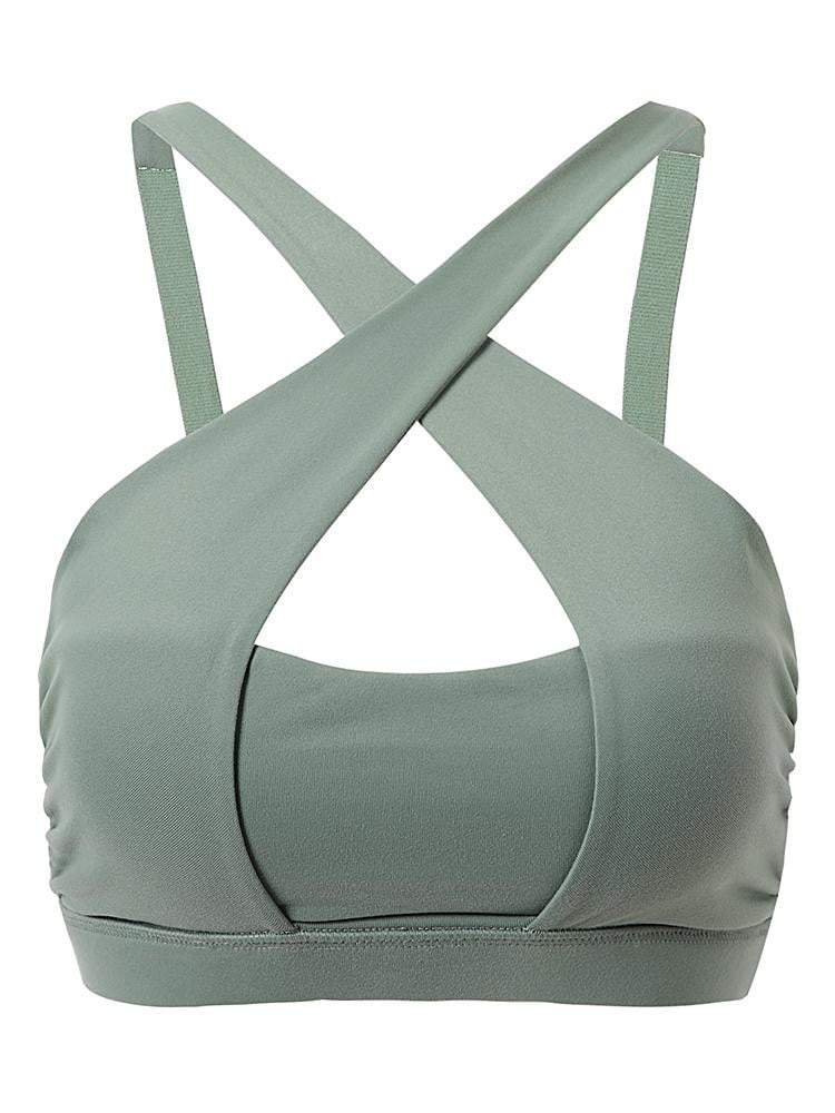Sloli Sexy Non-Wired Fitness Yoga Bra 2 Colors Available XS / Green