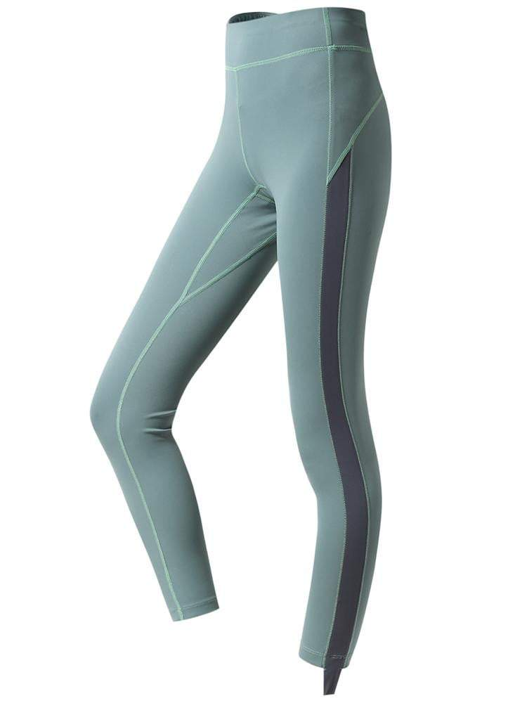 Sloli High Waist Color Schemes Capris Leggings XS / Green