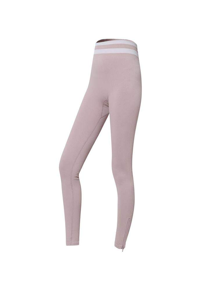 Sloli High Waist Elastic Strap Leggings S / Pink