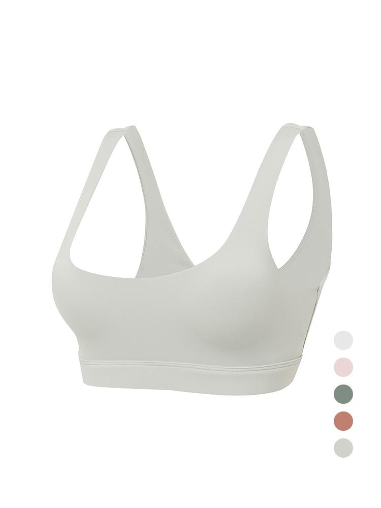 Sloli U-Neck Sports Bra Basic Design S / Light Gray