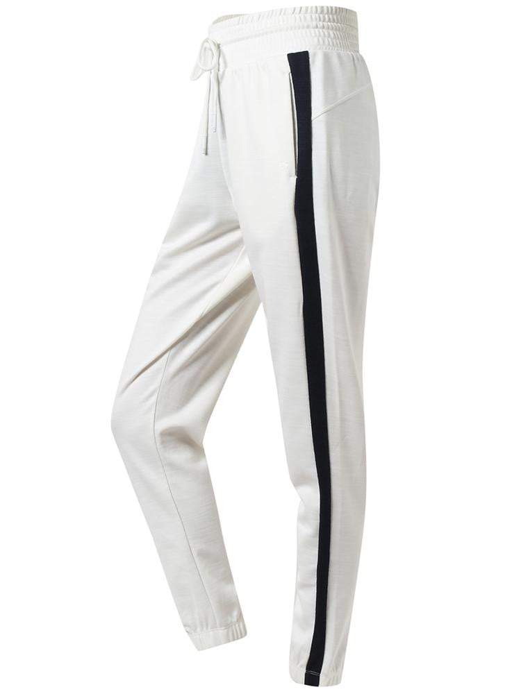 Sloli Color Scheme Casual Pants Running Pants XS / White