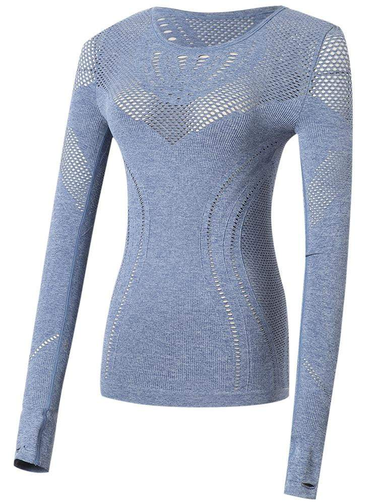 Sloli Highly Breathable Long Sleeve Running Shirt S / Blue