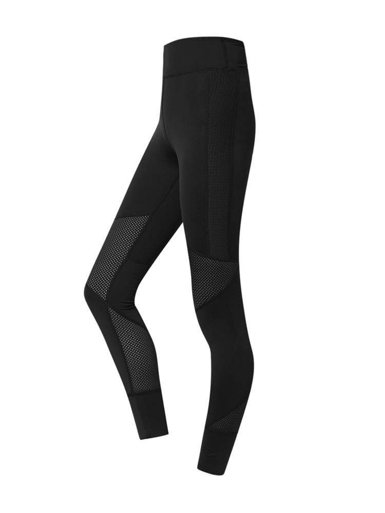 Sloli High Waist Breathable Material Sports Mesh Tight XS / Black