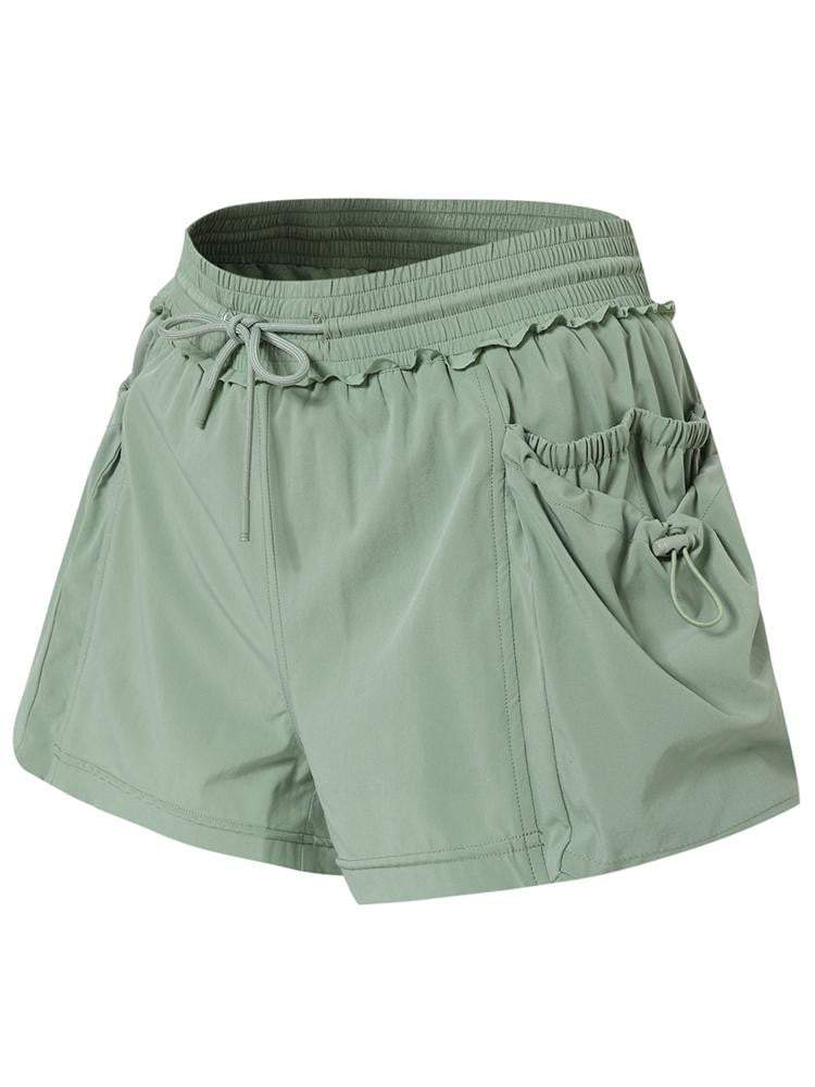 Sloli Sports Shorts with Lace Rims XS / Green