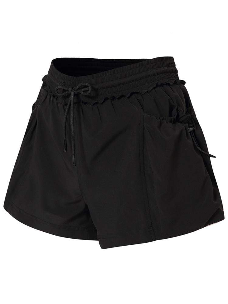 Sloli Sports Shorts with Lace Rims XS / Black